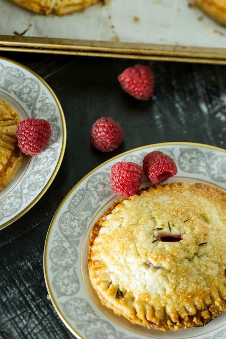 A Raspberry Hand Pie on a plate