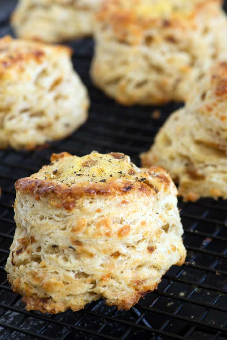Biscuits on a cooling rack