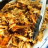 Instant Pot barbecue chicken on a platter