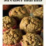 Sweet Potato Streusel Muffins on a plate.