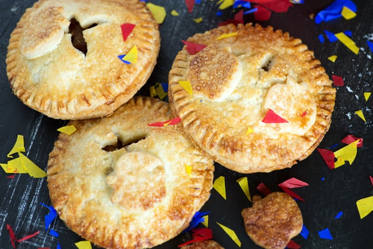 Apple Hand pies with confetti