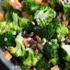 A bowl of Broccoli Salad