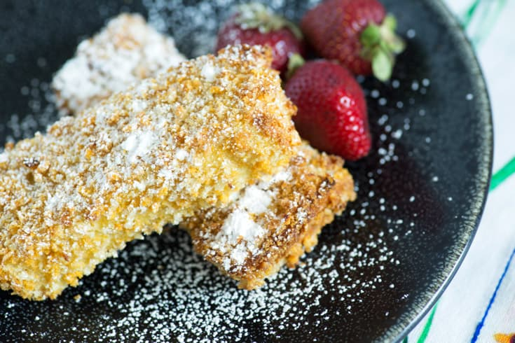 Two French Toast Sticks on a plate