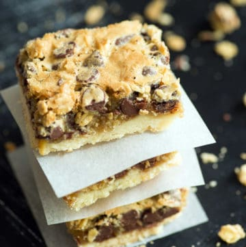 A stack of Gooey Bars