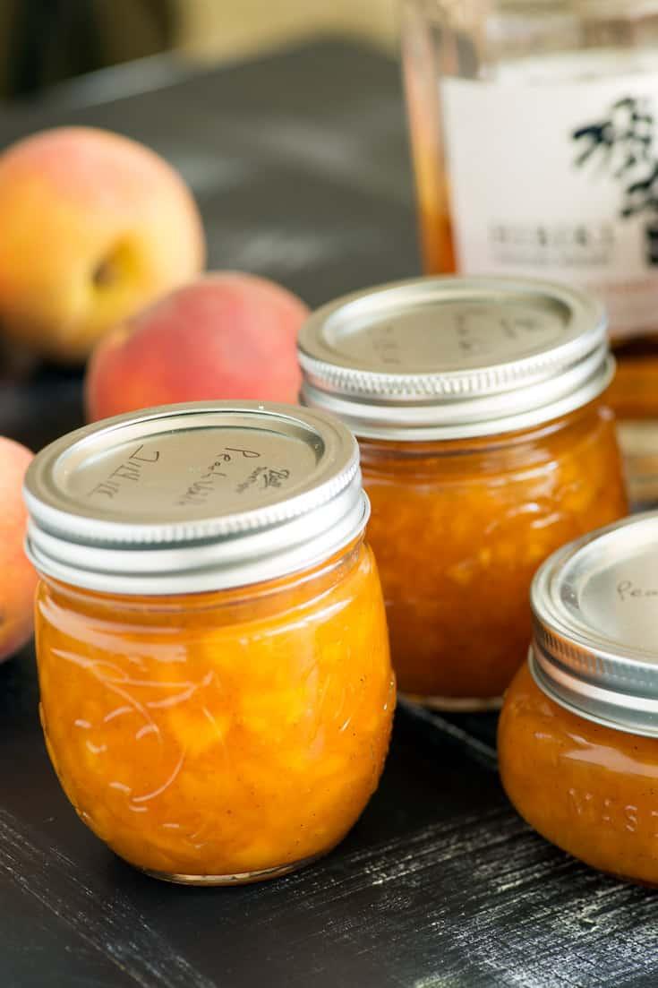Jars of Peach Vanilla Jam