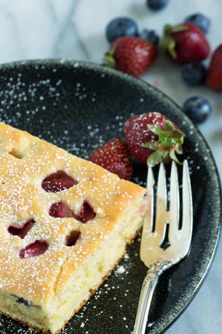 A serving of Sheet Pan Pancakes