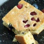 A bite of Sheet Pan Pancakes