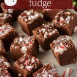 A cake stand with Christmas Fudge