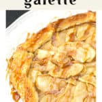 Apple Pear Galette on a plate.