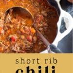 Short Rib Chili in a pot.