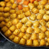 A skillet of Tater Tot Casserole