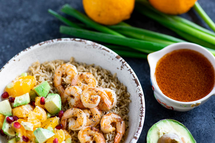 A Citrus Shrimp Rice Bowl