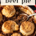 Guinness Beef Pie in a dish.