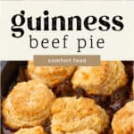 Guinness Beef Pie in a pot.