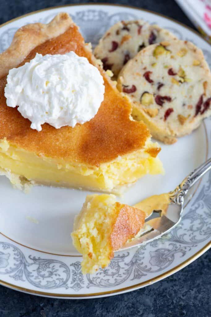 A bite of Lemon Chess Pie