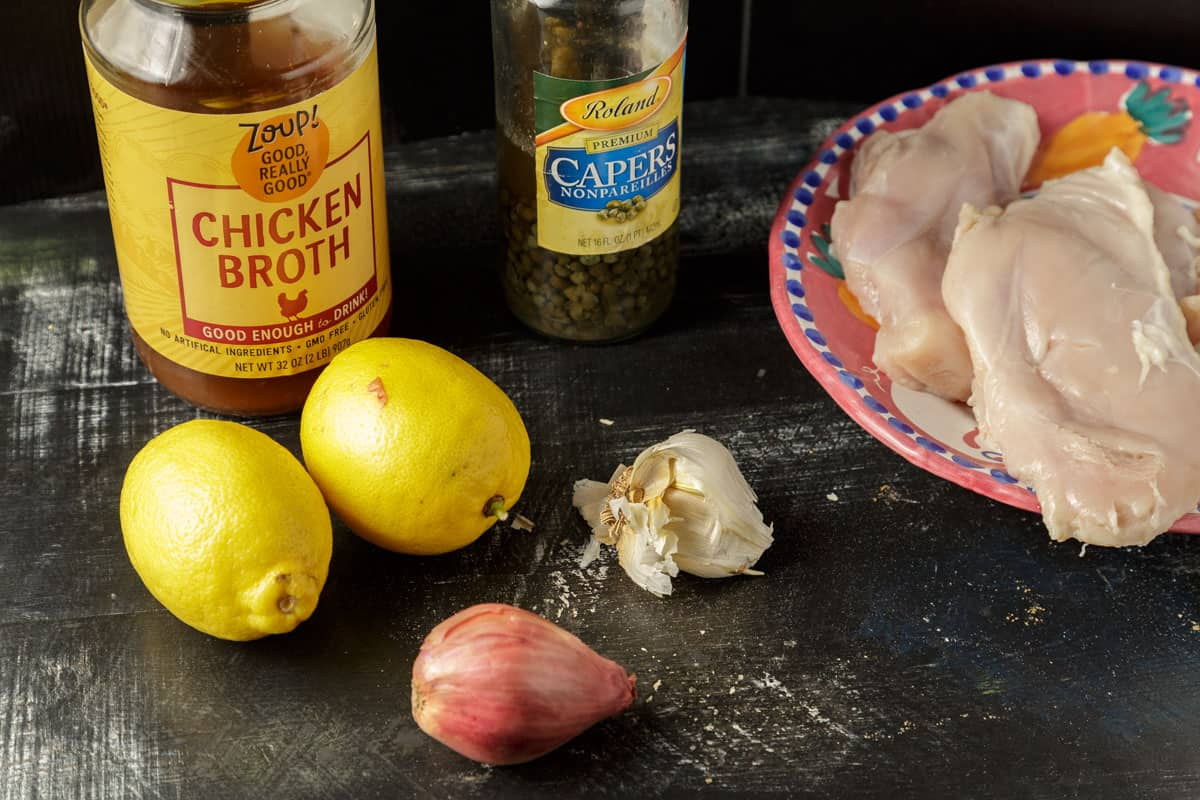 ingredients for chicken piccata