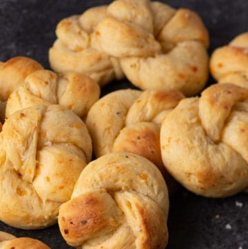 A pile of sour cream bread rolls
