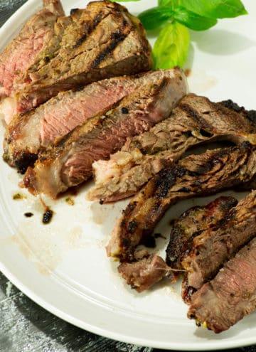 A platter of Herb Marinated Steak