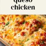 Queso chicken in a pan