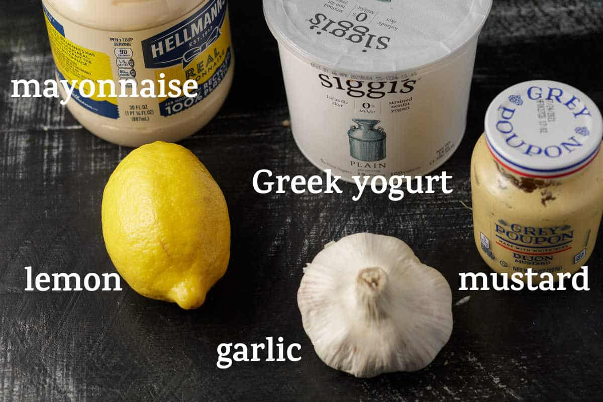 Dressing ingredients for a yogurt based dressing