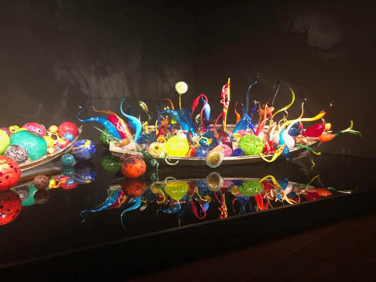 An exhibit at The Chihuly Gardens and Glass