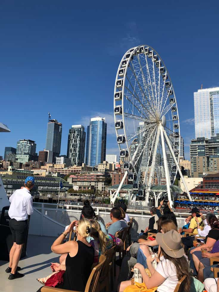 A view from the Harbor Cruise in Seattle