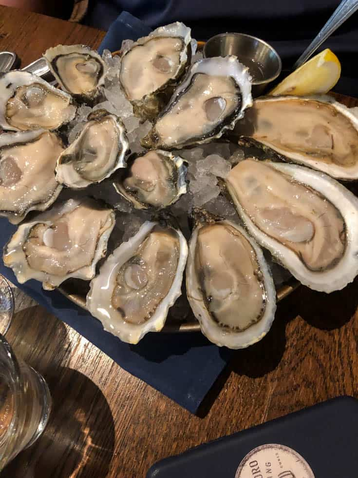 Oysters from Taylor's Shellfish