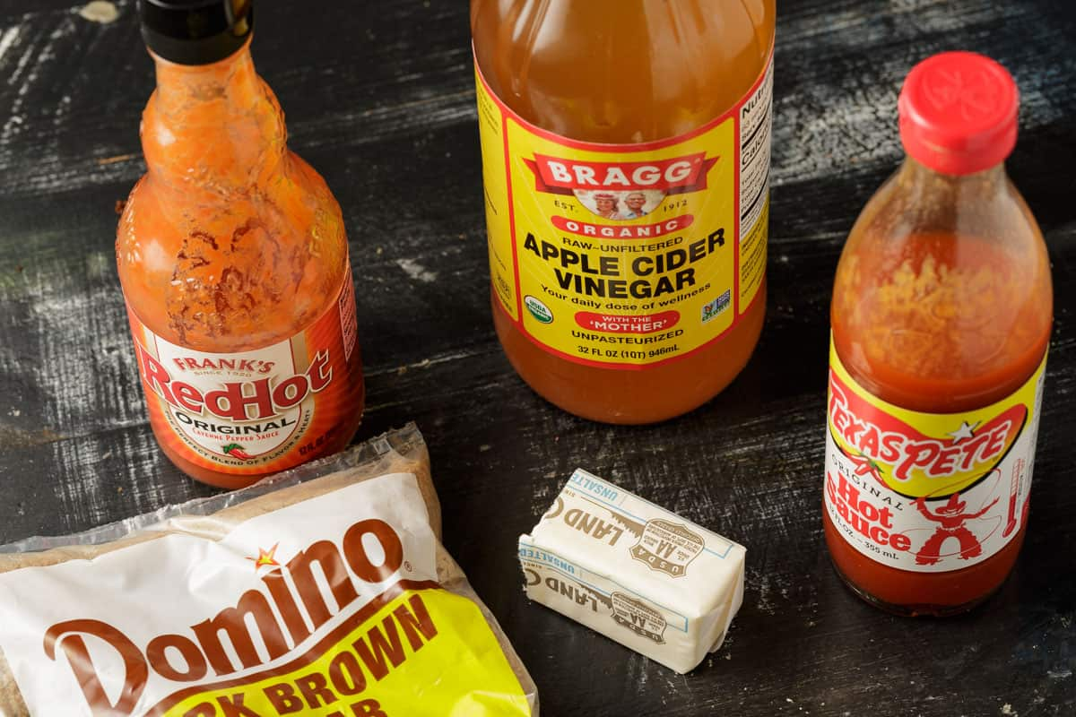 Ingredients for Buffalo sauce.