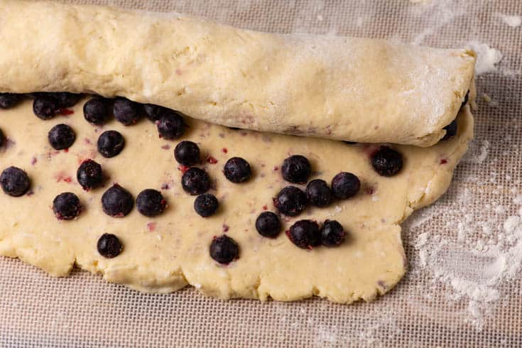 Scone dough with Blueberries