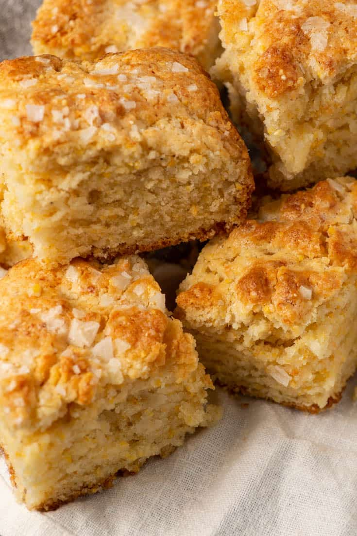 A stack of cornmeal biscuits