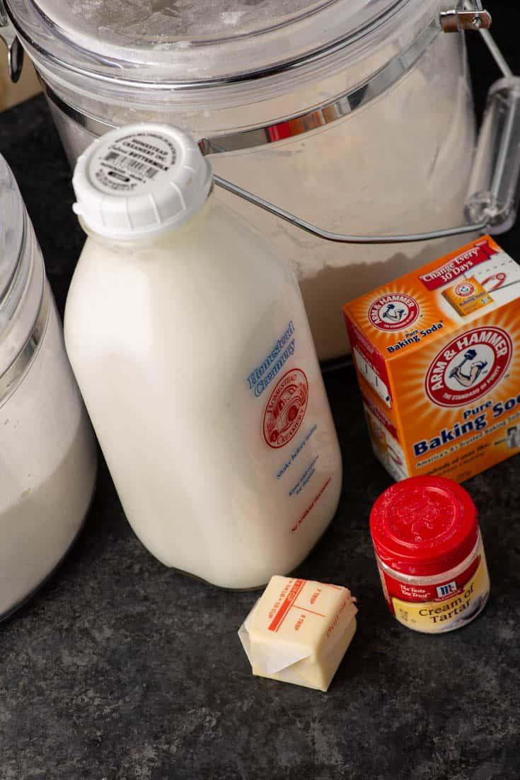 Ingredients for Irish soda bread