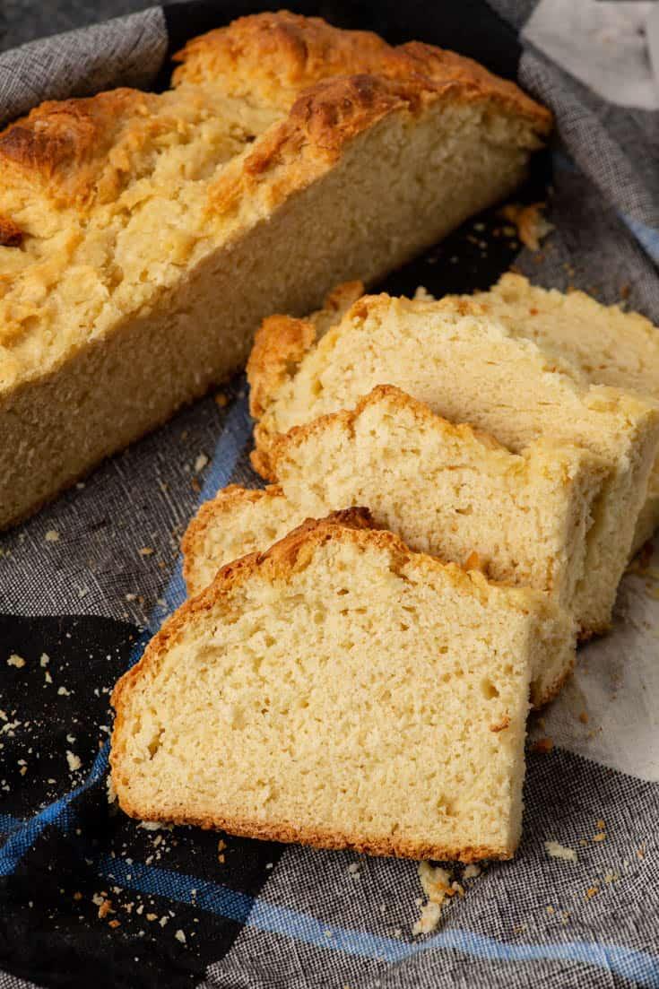 Slices of Irish soda bread