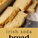Irish Soda Bread sliced on the counter.