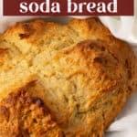 Irish Soda Bread in a kitchen towel.