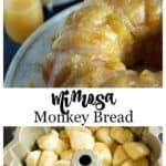 Mimosa monkey bread in a bundt pan