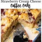 A baking dish of strawberry cream cheese coffee cake
