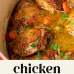 Chicken in White Wine in a pot