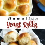 A basket of yeast rolls sweetened with pineapple juice
