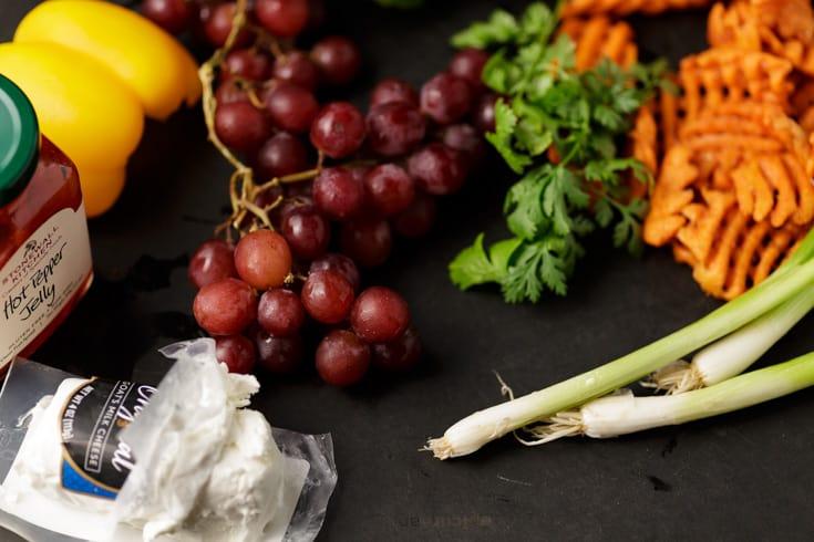 The ingredients for sweet potato crosinti