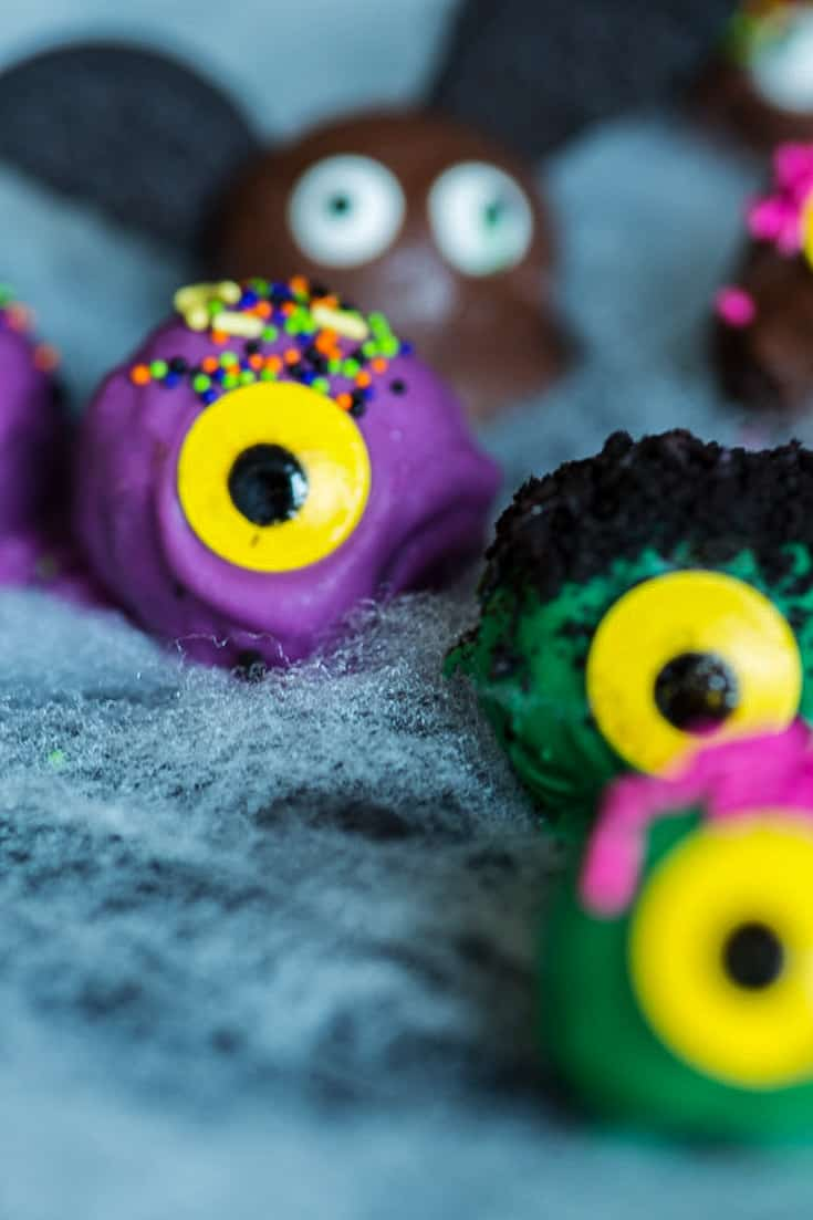 Oreo Balls in the shape of monsters and bats