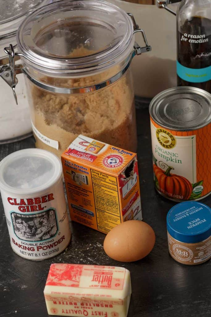 Ingredients for pumpkin cookies