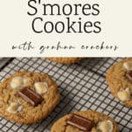 A rack of S'mores Cookies