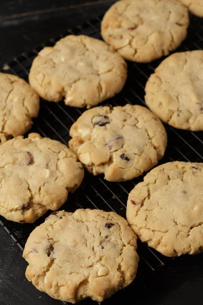 A cooling rack with Special K cookies