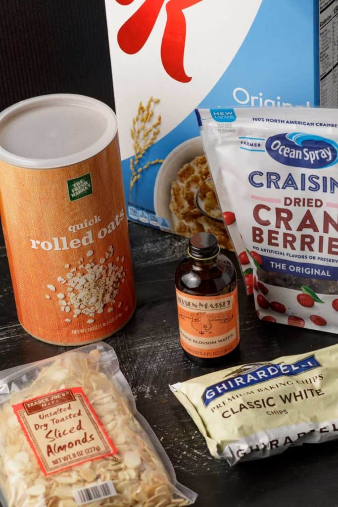 Ingredients for Special K Cookies