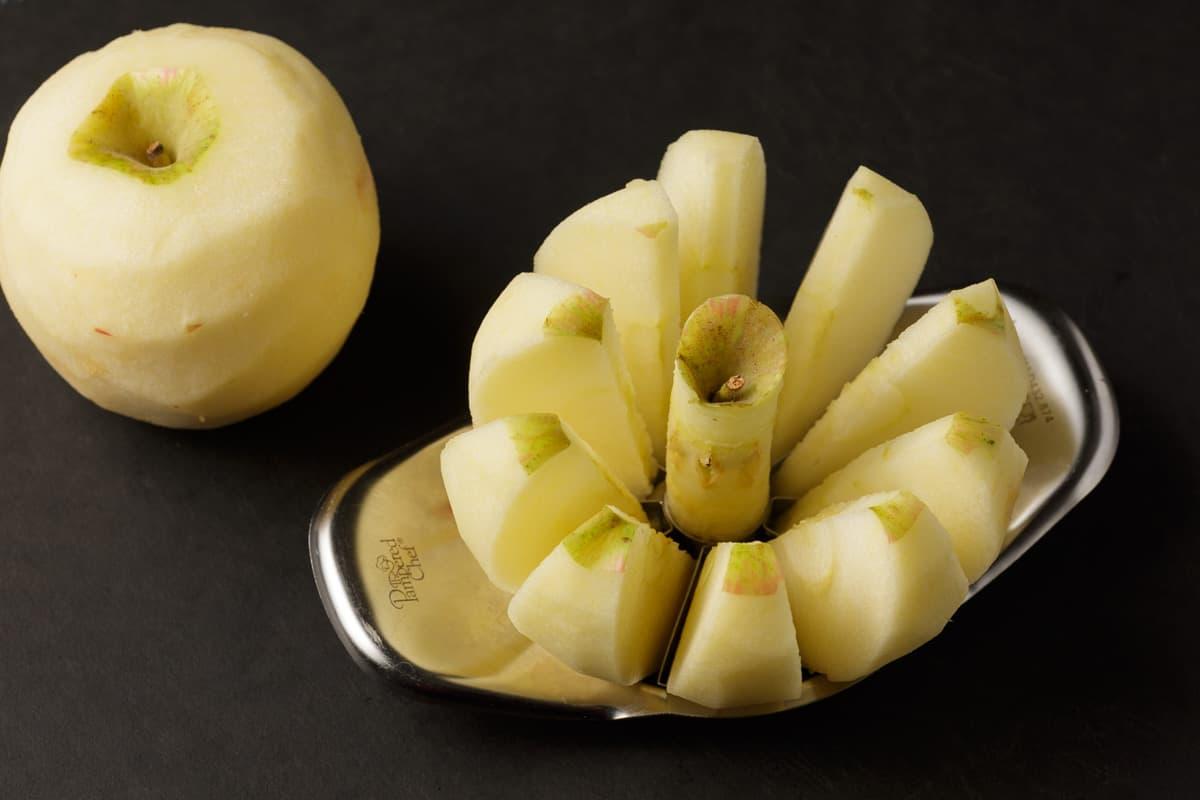 An apple corer