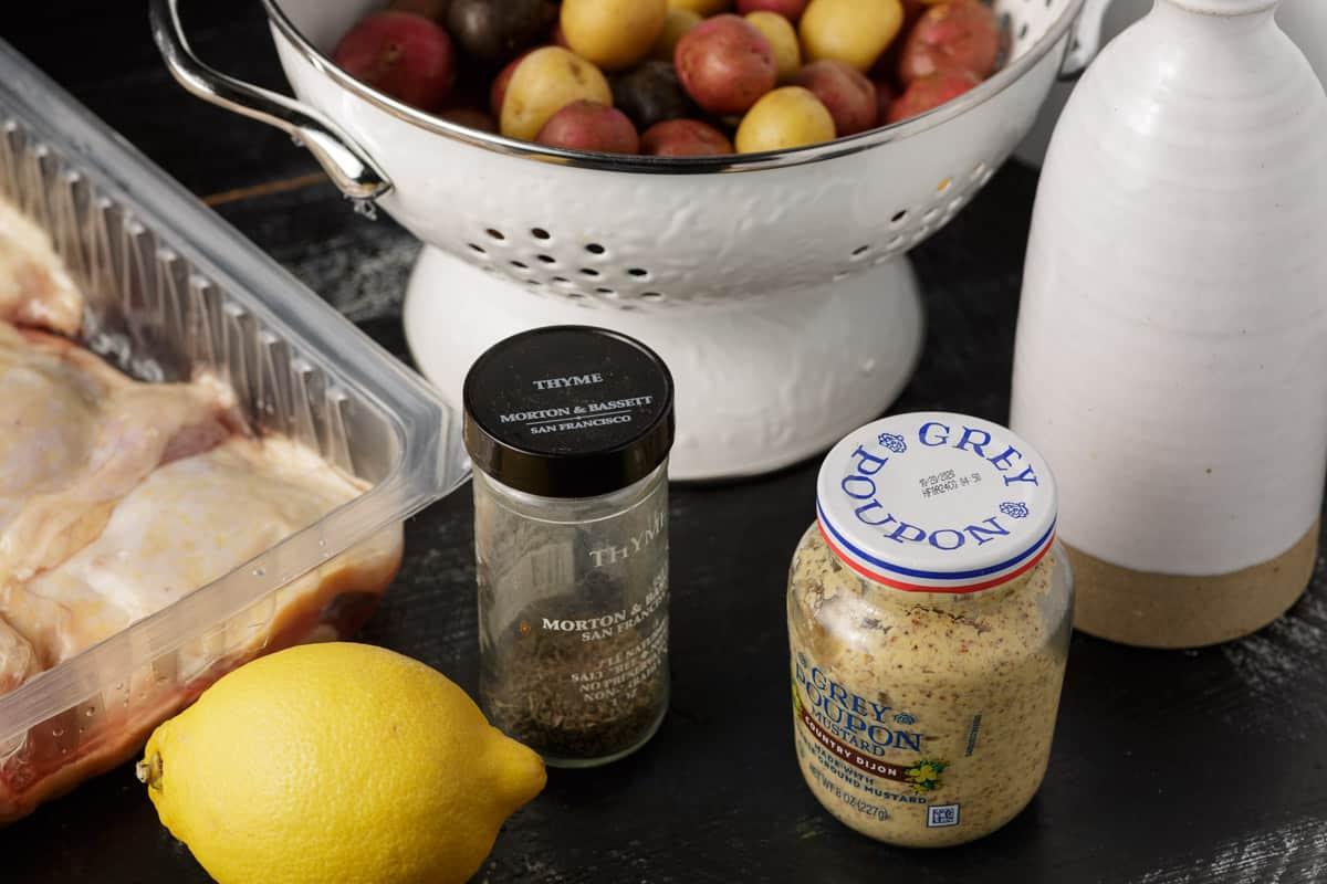 ingredients for lemn mustard chicken