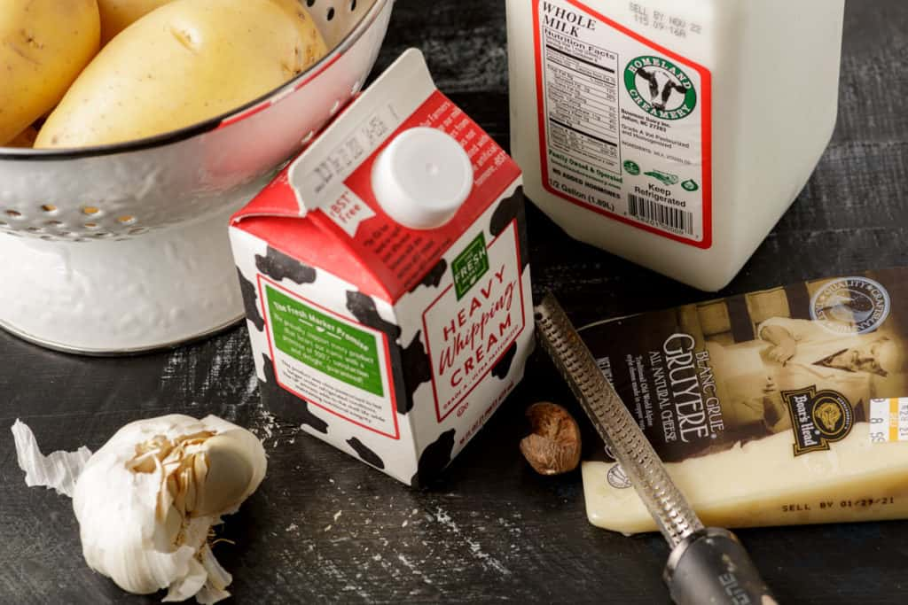 Ingredients for the best scalloped potatoes