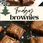 A platter of made from scratch brownies