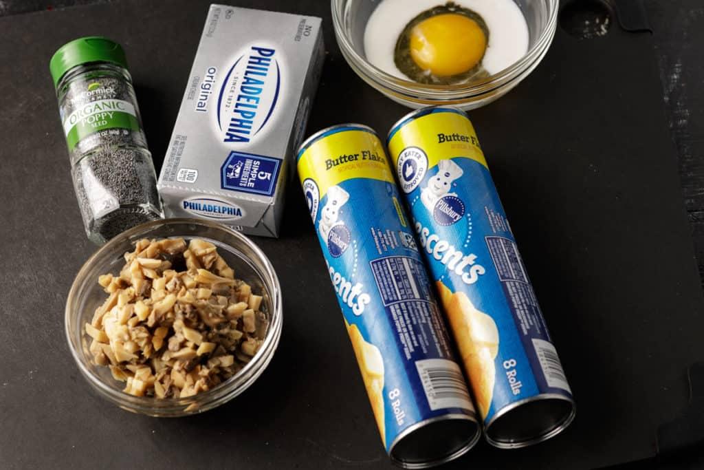 ingredients for mushroom crescent rolls