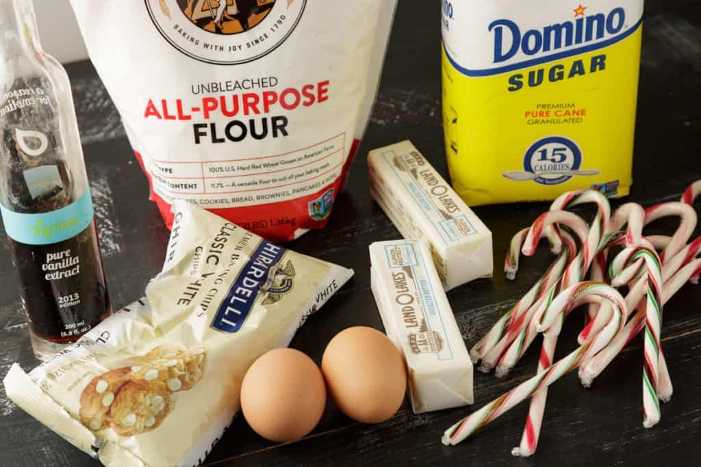 Ingredients for Christmas blondies